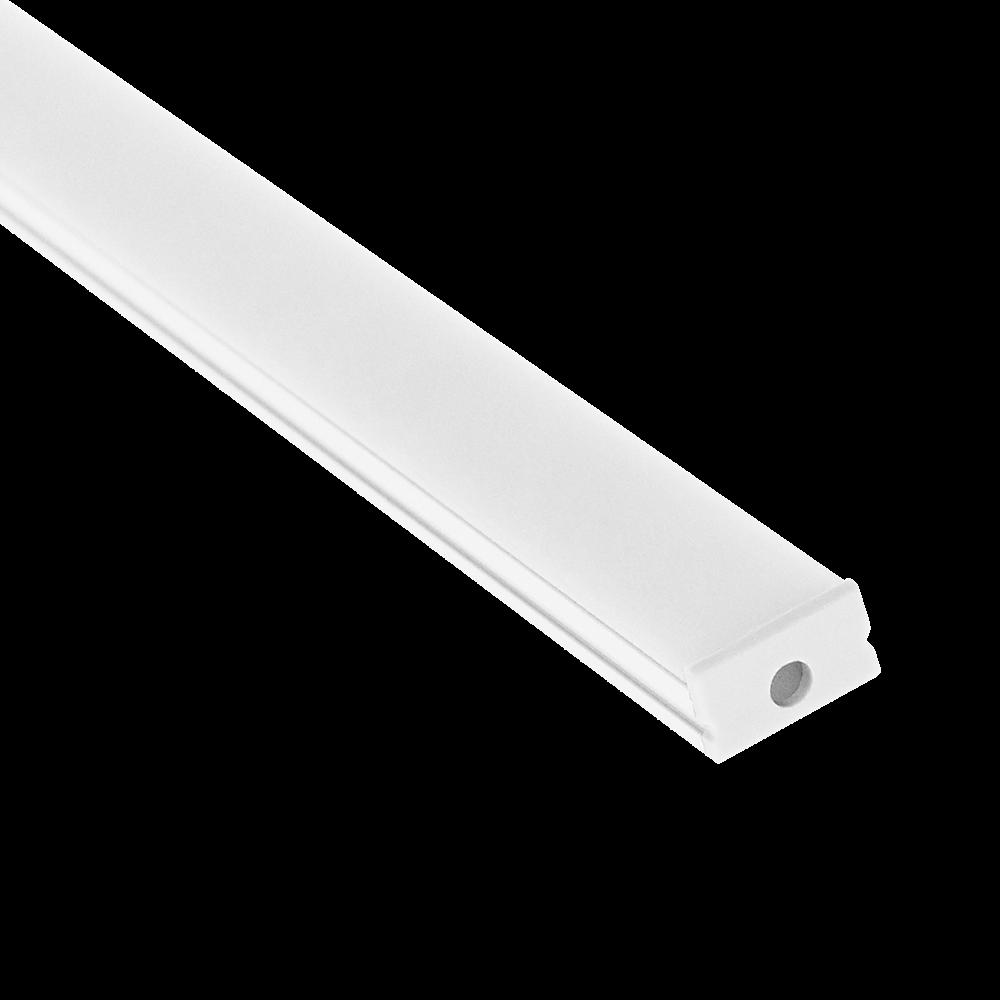 LedStoren alumiiniprofiili matala, pinta-asennettava