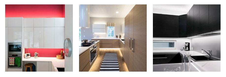 CCT-valaistus tekee keittiön tunnelman valitsemisesta helppoa.