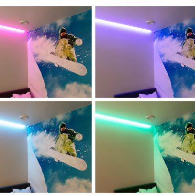 RGB led-nauha nuoren huoneen tehostevalona