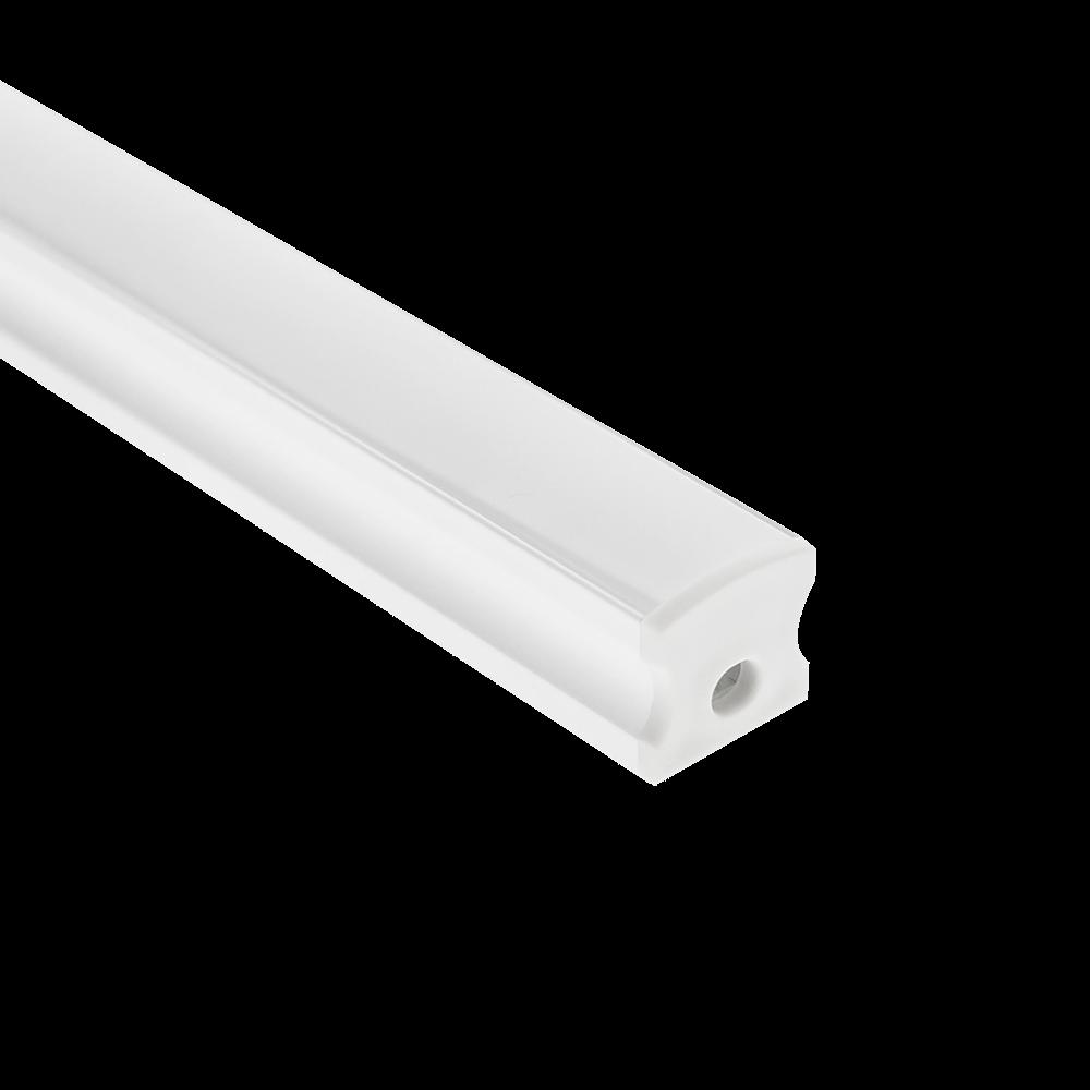 LedStoren valkoinen alumiiniprofiili pinta-asennukseen